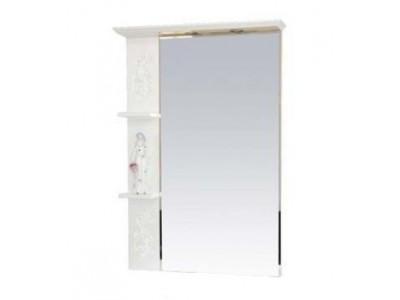 Мебель для ванной Misty Вирджиния (Бабочка) - 75 зеркало лев. бел.фактур. П-Вир02075-012Л