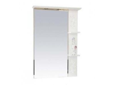 Мебель для ванной Misty Вирджиния (Бабочка) - 75 зеркало прав. бел.фактур. П-Вир02075-012П