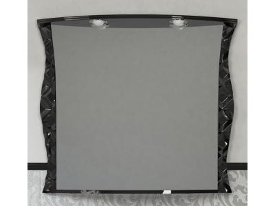 Мебель для ванной Misty CHARME - 100 Зеркало черное со светом Л-Чар02100-021Св