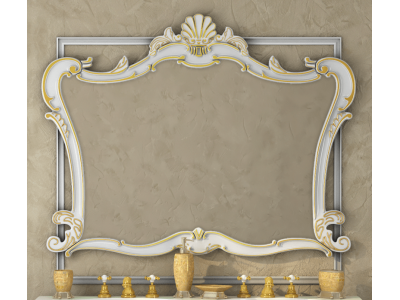 Мебель для ванной Misty Bianco 90 бежевое сусальное золото Л-Бья02090-381