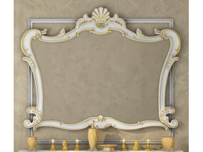 Мебель для ванной Misty Bianco 90 белое сусальное золото Л-Бья02090-391