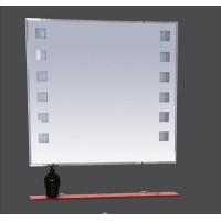 Misty Эллада -100 Зеркало с красной полочкой (свет) П-Элл03100-43Св