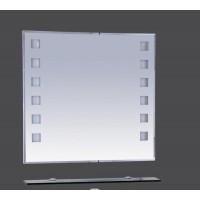 Misty Эллада - 75 Зеркало с черной полочкой  (свет) П-Элл03075-44Св