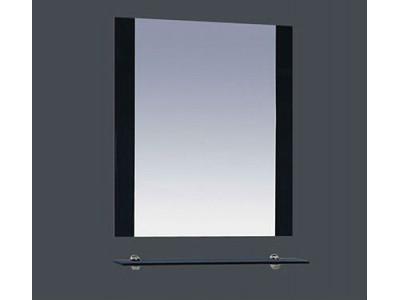 Мебель для ванной Misty Эмилия - 60 Зеркало черное с полочкой П-Эми03060-021