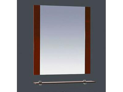 Мебель для ванной Misty Эмилия - 60 Зеркало красное с полочкой П-Эми03060-041