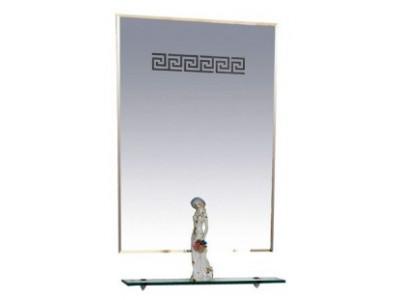 Мебель для ванной Misty Олимпия - 60 Зеркало с полочкой (свет) П-Оли03060-Св