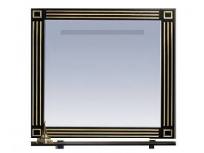 Мебель для ванной Misty Venezia 75 черное с серебром Л-Внц03075-553