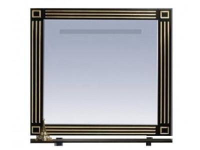 Мебель для ванной Misty Venezia 90 черное с серебром Л-Внц03090-553