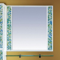 Зеркало Misty Жемчужина 90 белое/голубое П-Жем03090-328