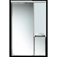 Зеркальный шкаф Misty Петра  - 65 Зеркало-шкаф прав.(свет) белая эмаль П-Сел02060-01П