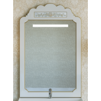 Зеркало Misty Milano 70 бежевое патина/декор Л-Мил02070-033