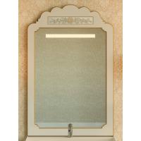 Зеркало Misty Milano 80 бежевое патина/декор Л-Мил02080-033