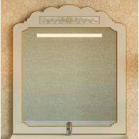Зеркало Misty Milano 90 бежевое патина/декор Л-Мил02090-033