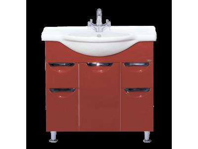Мебель для ванной Misty Жасмин 75 красная П-Жас01075-042