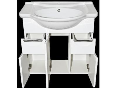 Мебель для ванной Misty Жасмин 76 с 2-мя ящиками белая П-Жас01075-0112Я