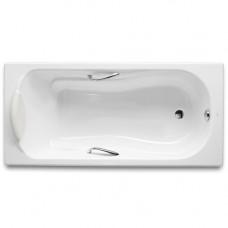 Ванна чугунная 150х80 Roca Haiti 2332G000R, с отверстиями для ручек