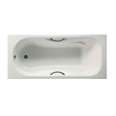 Ванна чугунная 160х70 Roca Malibu 2334G0000, с отверстиями для ручек