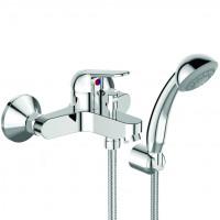 Видима Файн смеситель для ванны/душа настенный, излив 150 мм, душевой набор в комплекте, хром