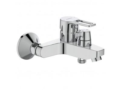 Видима Хайп смеситель для ванны/душа с керамическим переключателем, настенный, литой излив